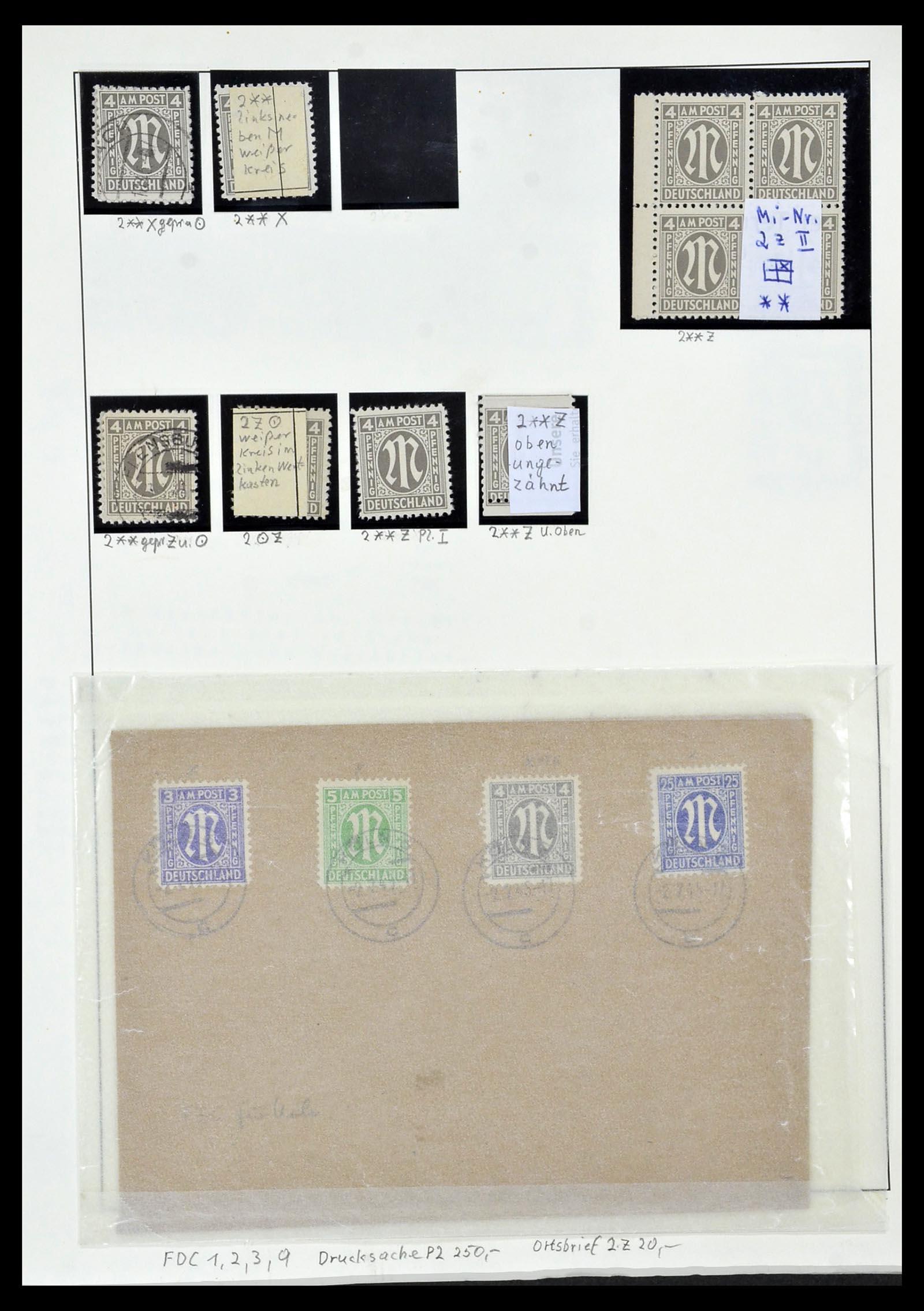 34152 013 - Postzegelverzameling 34152 Duitse Zones 1945-1949.