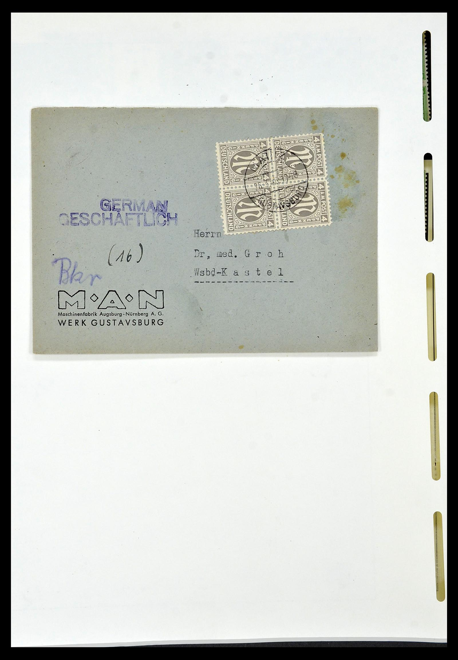 34152 014 - Postzegelverzameling 34152 Duitse Zones 1945-1949.