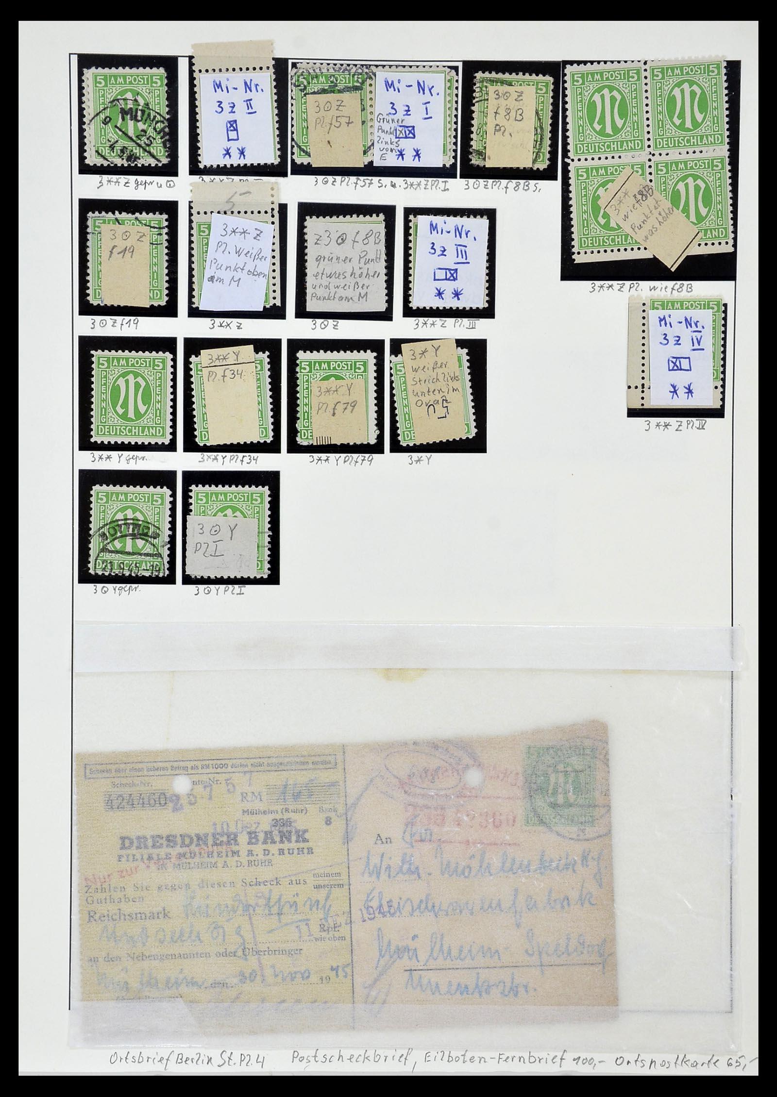 34152 015 - Postzegelverzameling 34152 Duitse Zones 1945-1949.