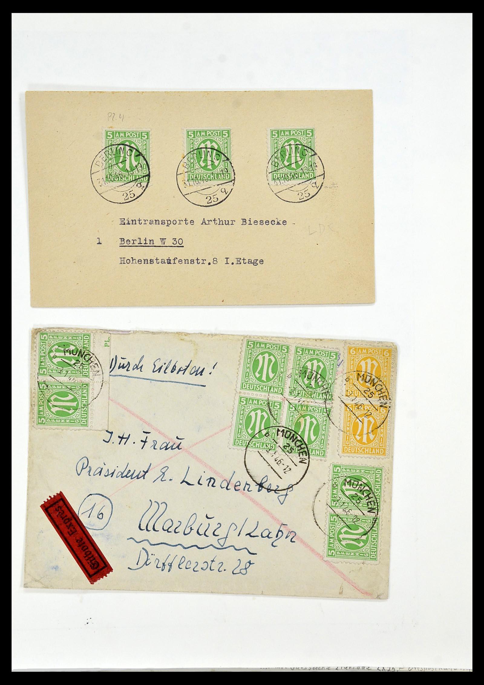 34152 016 - Postzegelverzameling 34152 Duitse Zones 1945-1949.