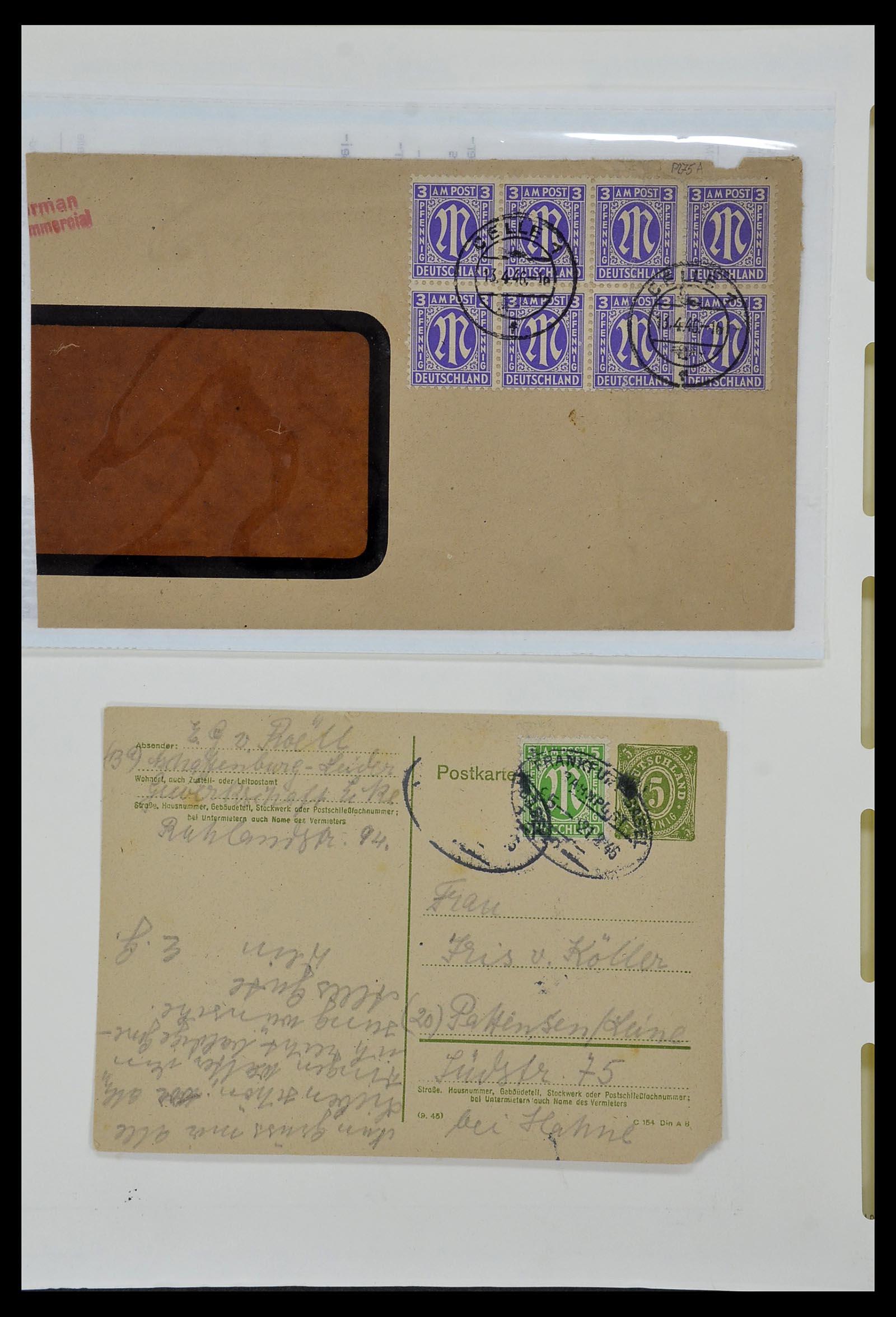 34152 017 - Postzegelverzameling 34152 Duitse Zones 1945-1949.