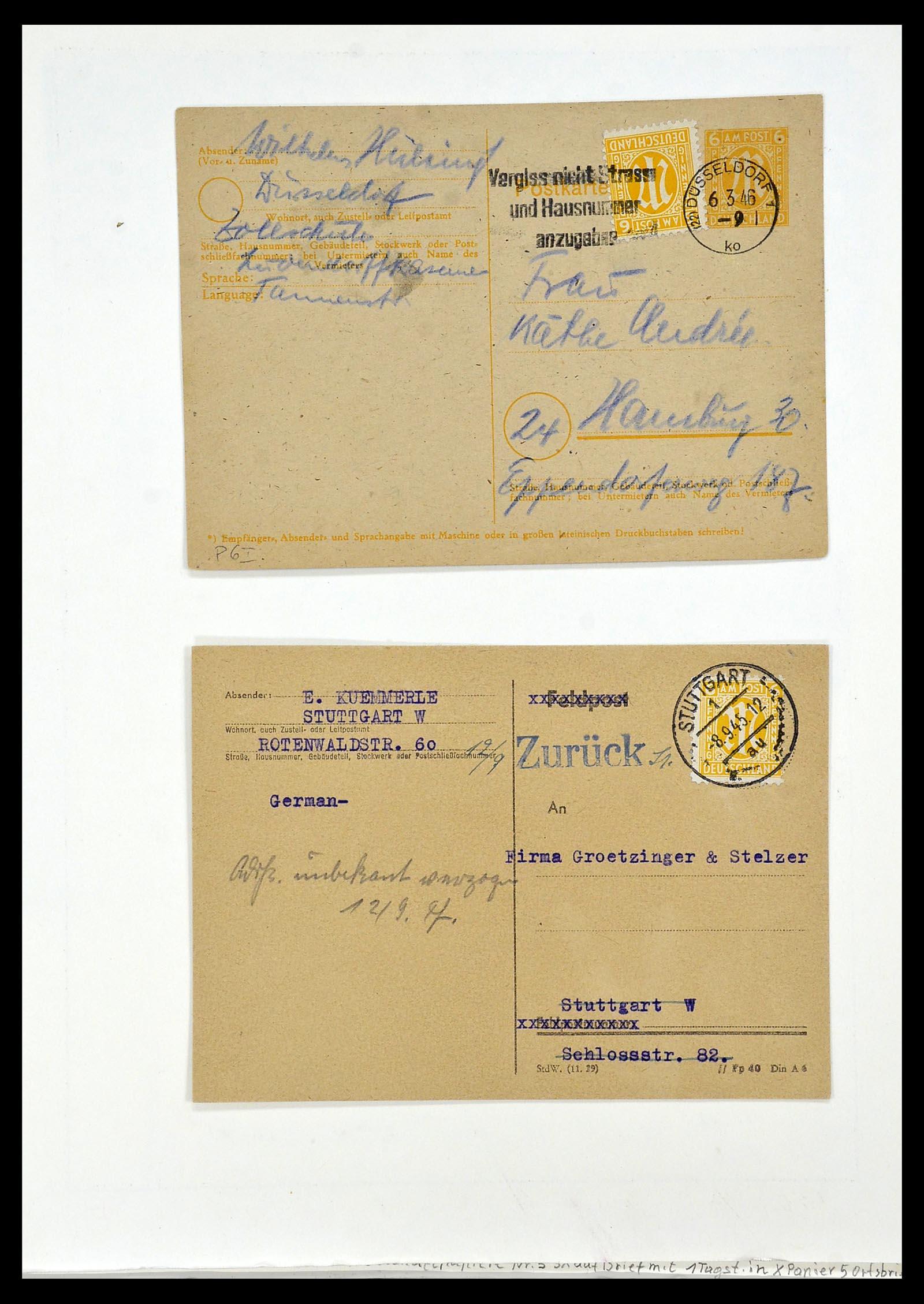 34152 019 - Postzegelverzameling 34152 Duitse Zones 1945-1949.