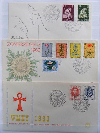 Postzegelverzameling 13016 Nederland fdc's 1960-1963.