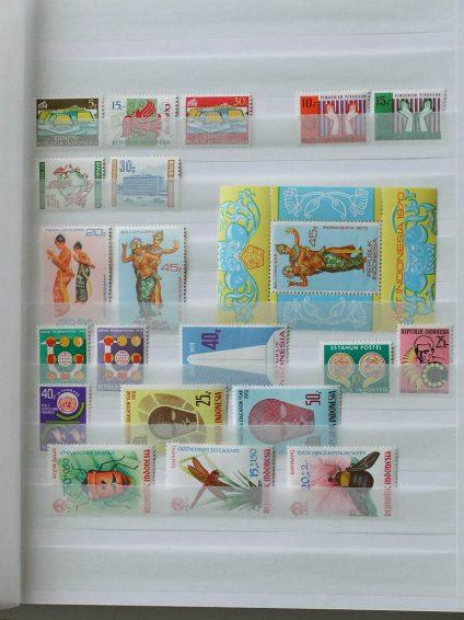 Postzegelverzameling 13031 Indonesië 1970-1984.
