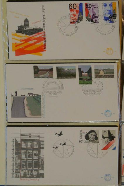 Postzegelverzameling 13039 Nederland fdc's 1980-2009!!