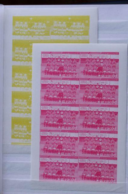 Postzegelverzameling 13051 St. Vincent drukproeven 1987-1988.