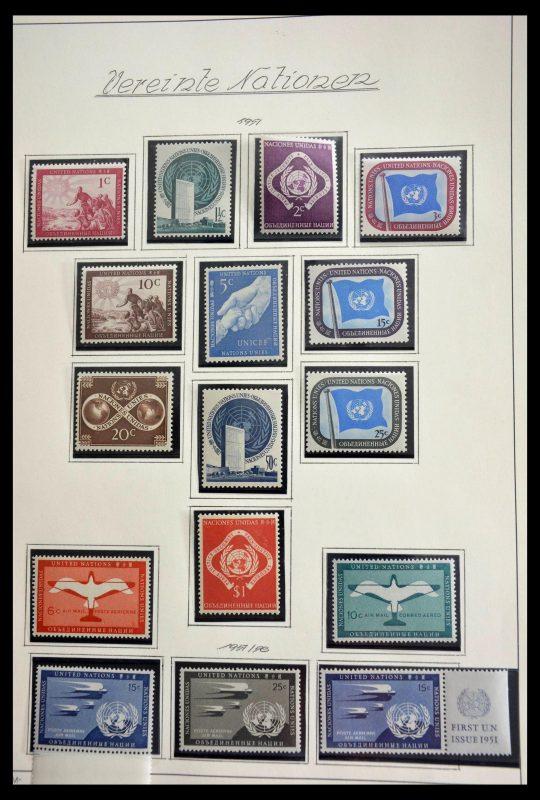 Postzegelverzameling 28699 Verenigde Naties 1951-1988.