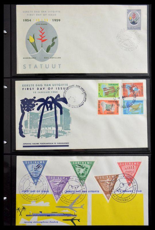 Postzegelverzameling 29235 Suriname FDC's 1960-2006.