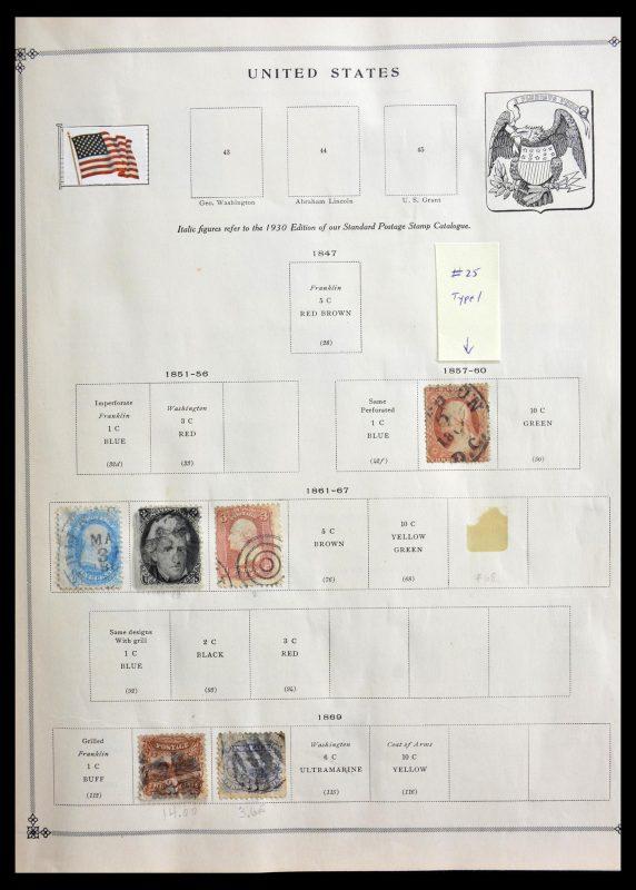 Postzegelverzameling 29287 Wereld 1850-1950.