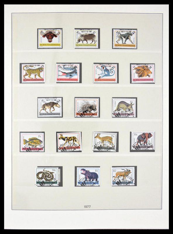 Postzegelverzameling 29355 Zuid Afrika thuislanden 1979-1991.