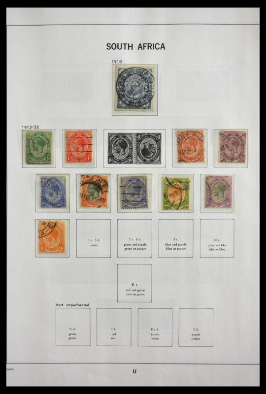 Postzegelverzameling 29393 Zuid Afrika 1910-2001.