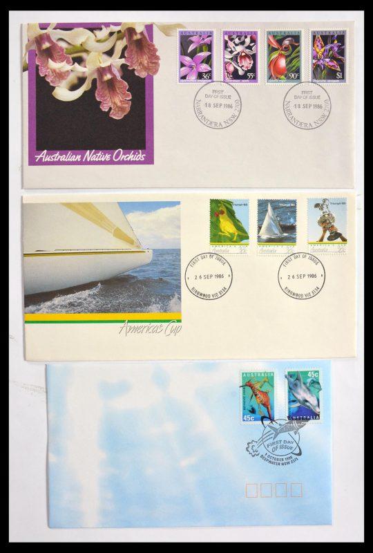 Postzegelverzameling 29611 Australië FDC's 1954-2004.