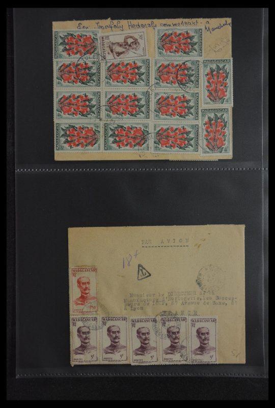 Postzegelverzameling 29885 Madagascar 1890-1950.