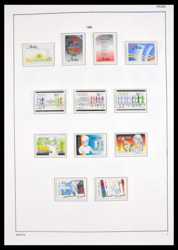 Postzegelverzameling 30052 Aruba 1986-2011.