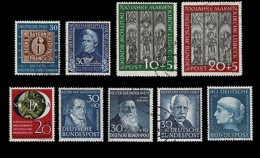 Postzegelverzameling Bund 1949 - 1986