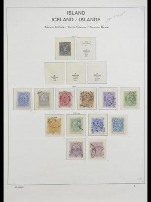 Postzegelverzameling 33237 IJsland 1876-1996.