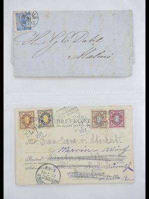 Postzegelverzameling 33241 Scandinavië brieven 1860-1930.