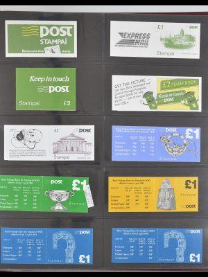 Postzegelverzameling 33313 Ierland postzegelboekjes 1974-2004.
