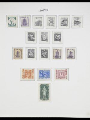 Postzegelverzameling 33321 Japan 1946-1968.