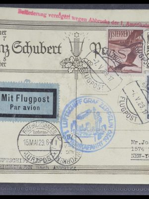 Postzegelverzameling 33331 Zeppelin brieven 1929-1931.