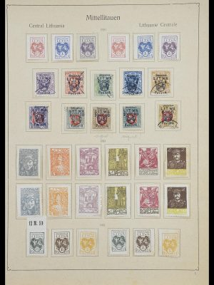 Postzegelverzameling 33440 Midden Litouwen 1920-1921.