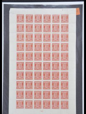 Postzegelverzameling 33449 Duitse bezetting Kanaaleilanden 1941-1943.