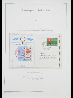 Postzegelverzameling 33463 Raketpost brieven.