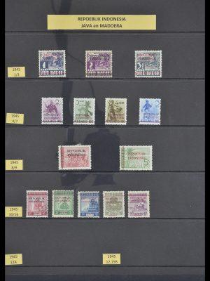 Postzegelverzameling 33483 Indonesië 1945-1999.