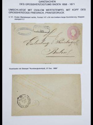 Postzegelverzameling 33487 Oud Duitse Staten brieven 1858-1920.