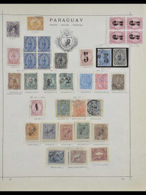 Postzegelverzameling 33505 Paraguay 1870-1901.