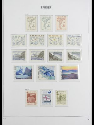 Postzegelverzameling 33564 Faeroer 1975-2006.