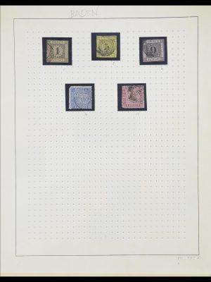 Postzegelverzameling 33574 Duitse Staten 1850-1874.