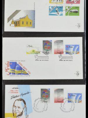 Postzegelverzameling 33585 Aruba FDC's 1986-2006.