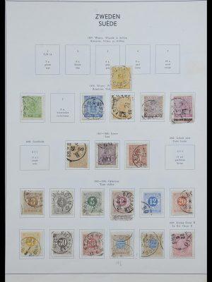 Postzegelverzameling 33629 Zweden 1858-1957.