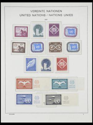 Postzegelverzameling 33637 Verenigde Naties 1951-2005.