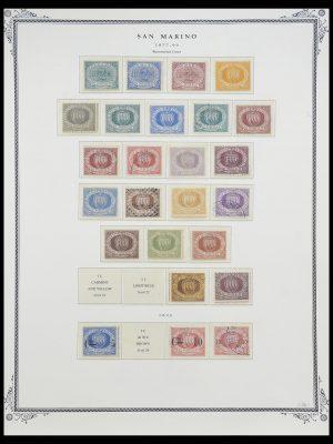 Postzegelverzameling 33677 San Marino 1877-1976.