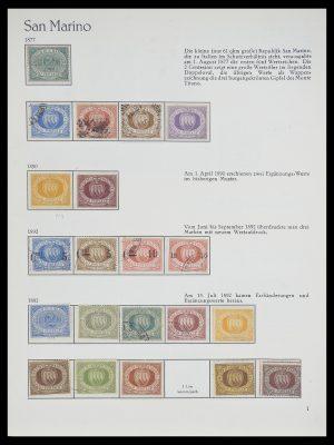 Postzegelverzameling 33701 San Marino 1877-1962.