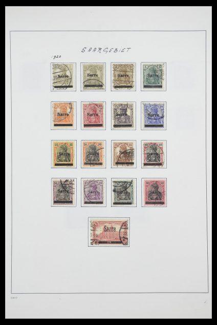 Postzegelverzameling 33702 Saar 1920-1959.