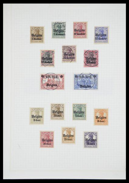 Postzegelverzameling 33713 Duitse bezettingen WO I en WO II 1914-1945.
