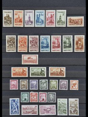 Postzegelverzameling 33716 Saar 1920-1959.