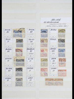 Postzegelverzameling 33718 Nederlands Indië stempels.