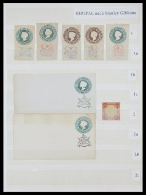 Postzegelverzameling 33723 India Staten 1870-1949.