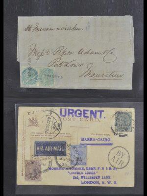 Postzegelverzameling 33724 India en staten brieven 1865-1949.