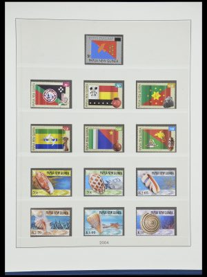 Postzegelverzameling 33731 Papua Nieuw Guinea 1973-2004.