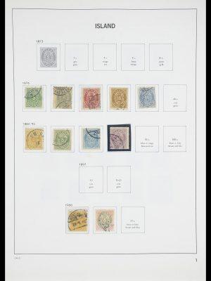 Postzegelverzameling 33785 IJsland 1876-1990.