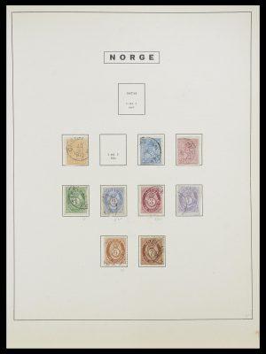 Postzegelverzameling 33810 Noorwegen 1856-1943.