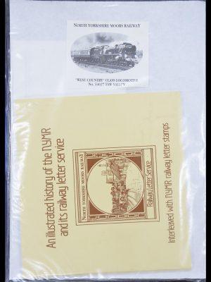 Postzegelverzameling 33755 Motief treinen 1900-2010.