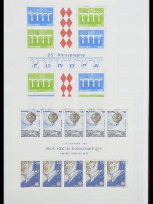 Postzegelverzameling 33833 Monaco blokken 1979-2015.