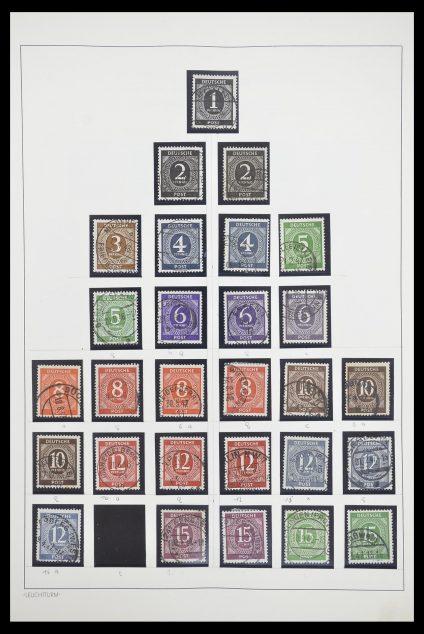 Postzegelverzameling 33837 Duitse Zones 1945-1948.