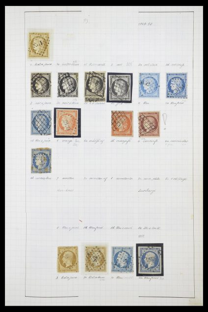 Postzegelverzameling 33840 Frankrijk 1849-1970.